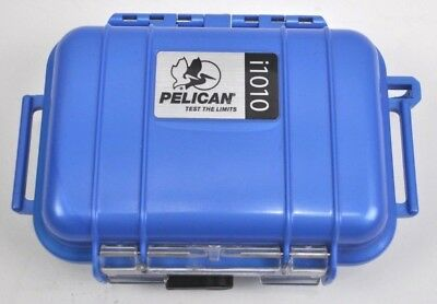 PELICAN i1010 WATER RESISTANT HARD MICRO CASE WITH IPOD INSERT BLUE Free shippin I1010 Micro Case