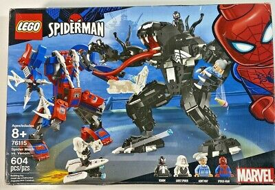 Lego Marvel Spiderman 76115 Spider Mech Vs. Venom 604 PCS New