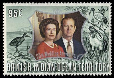 "BR INDIAN OCEAN 48ii (SG45b) - Silver Wedding Jubilee ""Slate Green"" (pf34776)"