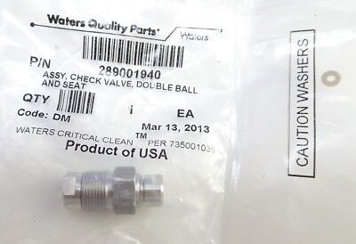 Waters Acquity Uplc 289001940 Assy Check Valve Double Ball Seat