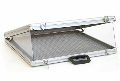 Locking Aluminum Glass-top Display Case 24w X 20d X 3h