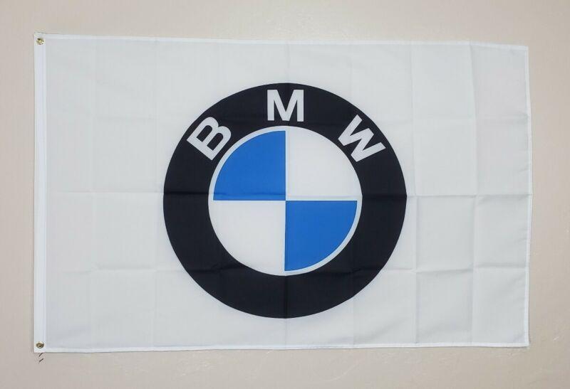BMW Racing Banner 3x5 Ft Flag Garage Shop Wall Decor Gift Car Show M Power
