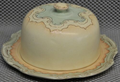 Hampshire pottery Keene, NH covered cheese Antique