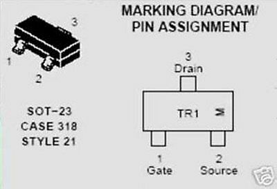Tr13 On Semiconductor Transistor Ntr4501n Smd 20 Pcs