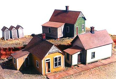 RGS REESE ST ROW HOUSES HO Model Railroad Structure Unpainted Plastic Kit GL5903