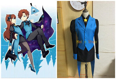 Mabel Gravity Falls Halloween Costume (NEW! Gravity Falls AU Reverse the town Mabel cosplay costume Uniform)