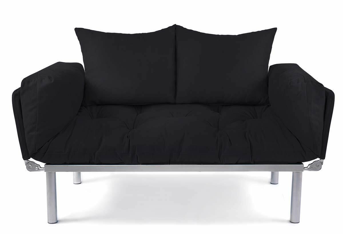 Sofa 2 Sitzer mit Schlaffunktion Kleines Schlafsofa Ein 2er Couch Schlafsessel