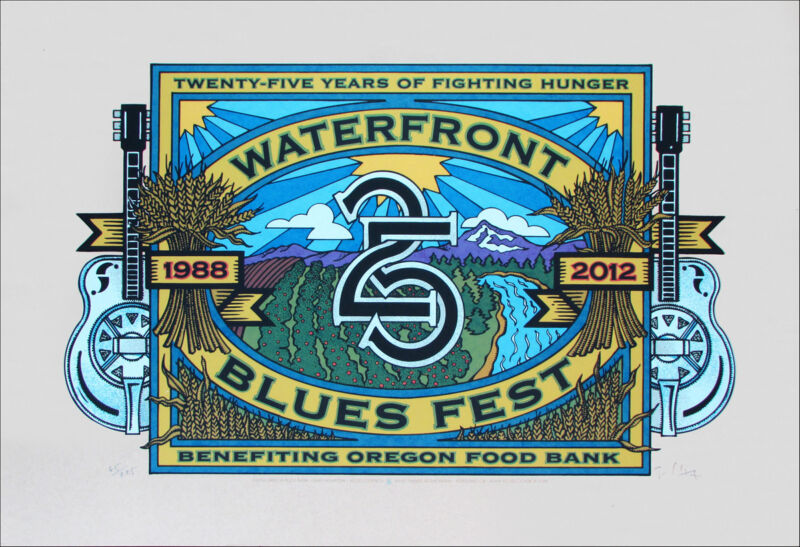 Waterfront Blues Poster 2012 Special Edition _Fruitboxî Signed Silkscreen
