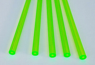 5 Pc 38 Od 18 Id Clear Fluorescent Green Acrylic Plexiglass Tube 12 Inch