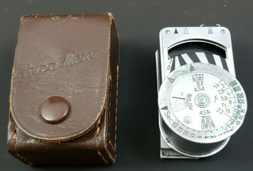 Leica-METER LIGHT METER 79079, + LEATHER POUCH. MADE IN GERMANY. RARE VINTAGE!