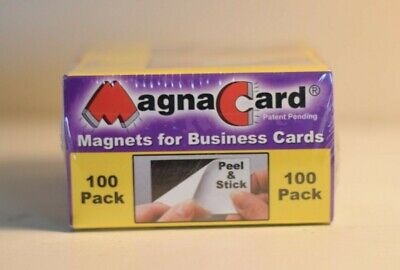 Business Card Magnets 100 Pack Peel and Stick Magna Card Inc. MC 100 NEW  ()