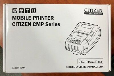 New Citizen Mobile Printer Cmp-20btiu 2 Printer Usb Serial Bt Ios Wh149