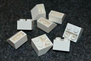 8 WHITE 2x2 Standard Inverted Slope Brick Bricks  ~ Lego  ~ NEW