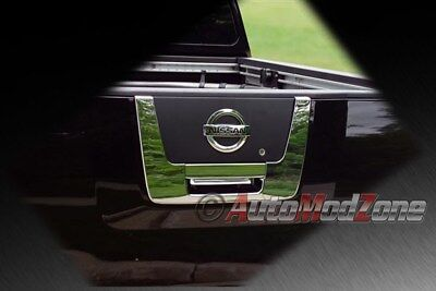 Fit 04-12 Nissan Titan Chrome Tailgate Rear Panel Door Handle Lower Cover 2pc -
