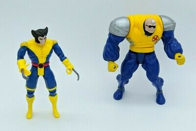 Lot of 2 Marvel Toybiz Loose Action Figures Wolverine Strong Guy 1992 1993 Toy