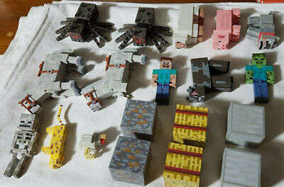 Minecraft Figures Cow Steve And More Lot of 19