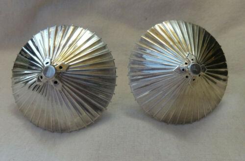 Vintage Japanese Sterling Silver Parasol Salt & Pepper Shakers Umbrellas 1950