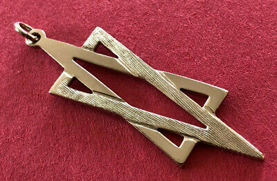 Vintage Religious Medal / STERLING TCJI / JEWISH STAR OF DAVID