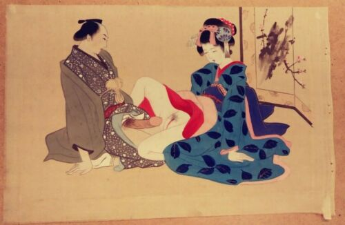 JAPANESE EROTIC SHUNGA PAINTINGS