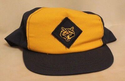 Cub Scouts Blue & Yellow Hat Vintage Twill Snap Back Cap Vintage Boy Scouts BSA