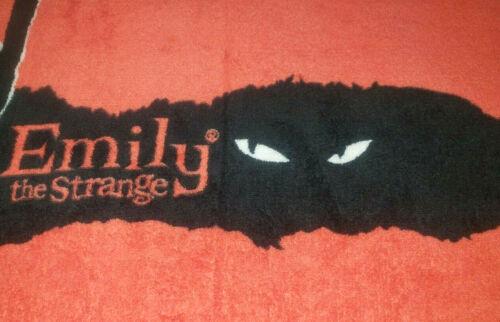 Emily the Strange ESP 2005 Red Black Velvet Plush Fleece Throw Cat Scratch 60x50