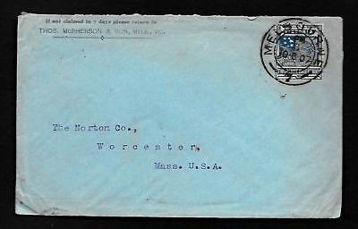 CF84 Victoria Advt. Cover back Sydney 7, 1907 T. Mc. Pherson Iron & Machinery