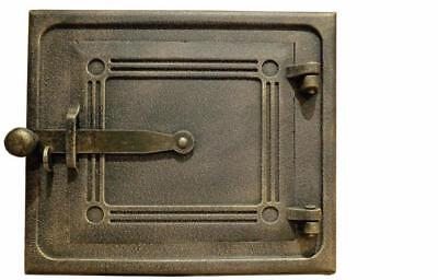 28 cm x 24 cm Cast Iron Fire Door Cla Bread Oven Door Pizza Smoke House Gold