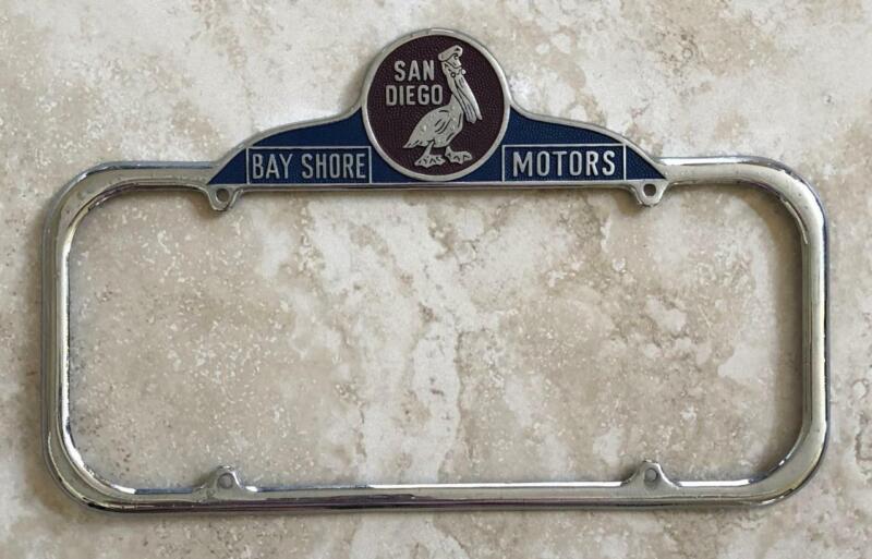 Bay Shore Motors Auto Dealer San Diego, CA License Plate Frame 1940-1955