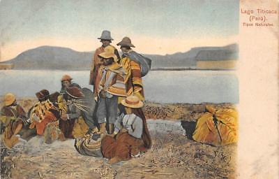 TIPOS NATURALES LAGO TITICACA INDIANS POSTCARD (c. 1910) segunda mano  Embacar hacia Argentina