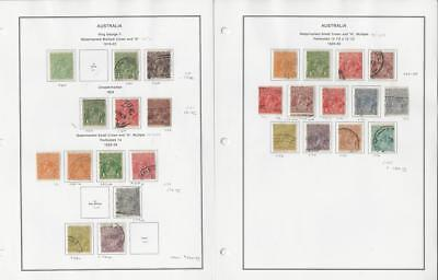 Australia Collection 1918 to 1930 on 2 Album Pages, Neatly Identified