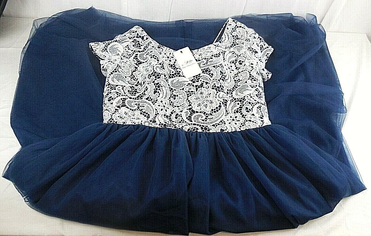 details zu jaeden damenkleid hochzeitskleid brautjungfernkleid blau/weiß  größe xl/xxl