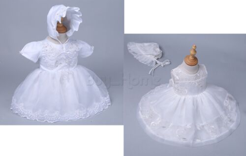 Baby Girl Christening Baptism Formal Dress Gown Party Newborn To 24