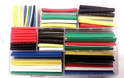 385pcs 7 Colors 9 Sizes 21 Heat Shrink Tubing Wire Cable Sleeving Wrap Kit