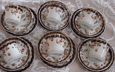 Six Antique Royal Stafford Trios / Tea set,  1910