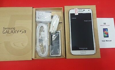Brand New Samsung Galaxy S5 Sm G900a At T  Gsm Unlocked 16Gb Shimmery White