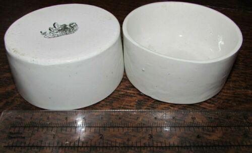 2 Rare Belleek pottery earthenware salt jam dish small bowls 2nd black mark
