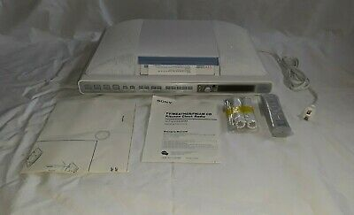 NEW SONY ICF-CD553LIV3 ULTRA SLIM KITCHEN  CD PLAYER/ AM-FM WEATHER CLOCK RADIO.