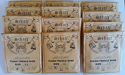 Schaff Roslau Piano Music Wire String Assortment Kit Set 12 1/3 Lb Coils -