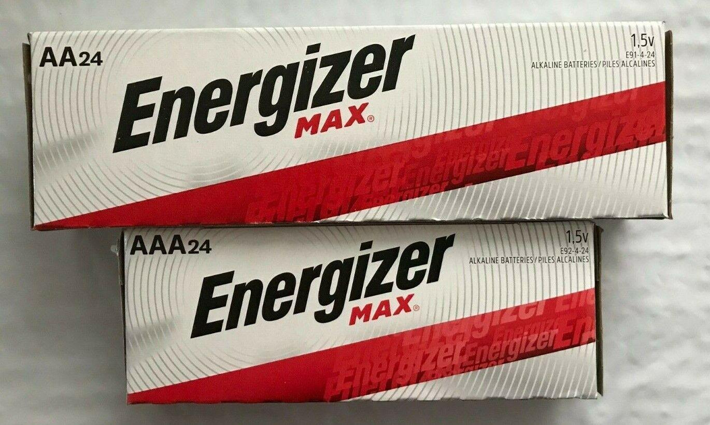 alkaline aa and aaa max batteries 24