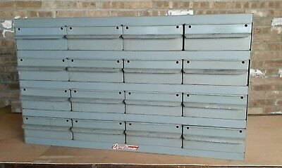 Real Equipto Usa 16 Drawers Unit Metal Parts Cabinet 17 Deep W Dividers