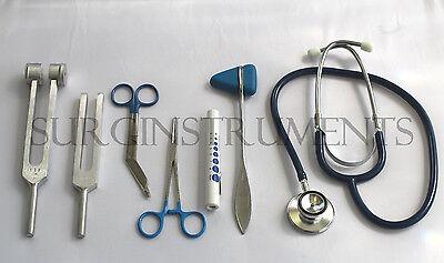 7 Piece Blue Medical Kit Emt Nursing Surgical Ems Student Paramedic Holiday Gift