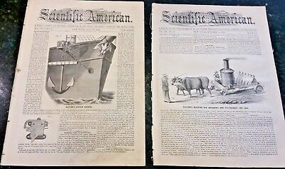 4 Complete Original 1860-1862 illustrated Civil War Scientific Amerian Weekly
