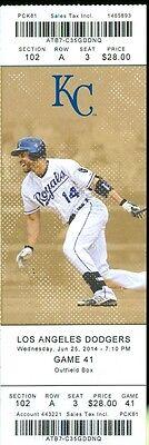 2014 Royals vs Dodgers Ticket: Matt Kemp, Lorenzo Cain and Jarrod Dyson hit HRs