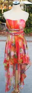 NWT MORGAN & CO $140 Tangerine Multi Prom Party Dress 5