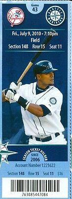 2010 Mariners Vs Yankees Ticket  Phil Hughes Win Mark Teixeira 2 Home Runs