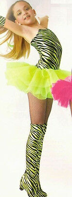 GROUP LOTs OF 5 Child Small Lime Punk Rocker Tutu Dance Costume - for one price!](Group Costumes For Kids)