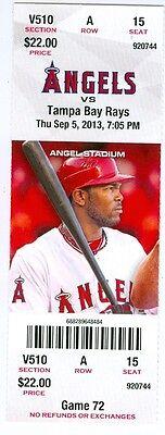 (2013 Angels vs Rays Ticket: Angels bash David Price)