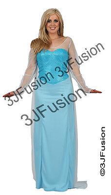 Adult Ladies Womens Frozen Elsa Storybook Fancy Dress Costume Book - Womens Elsa Kostüm