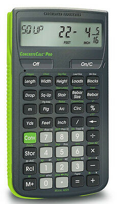 Calculated Industries ConcreteCalc Pro Calculator  4225