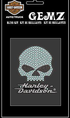 Harley Davidson Willie G Skull Bling Gemz Aufkleber